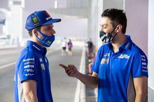 Joan Mir, Team Suzuki MotoGP, mit Francesco Carchedi