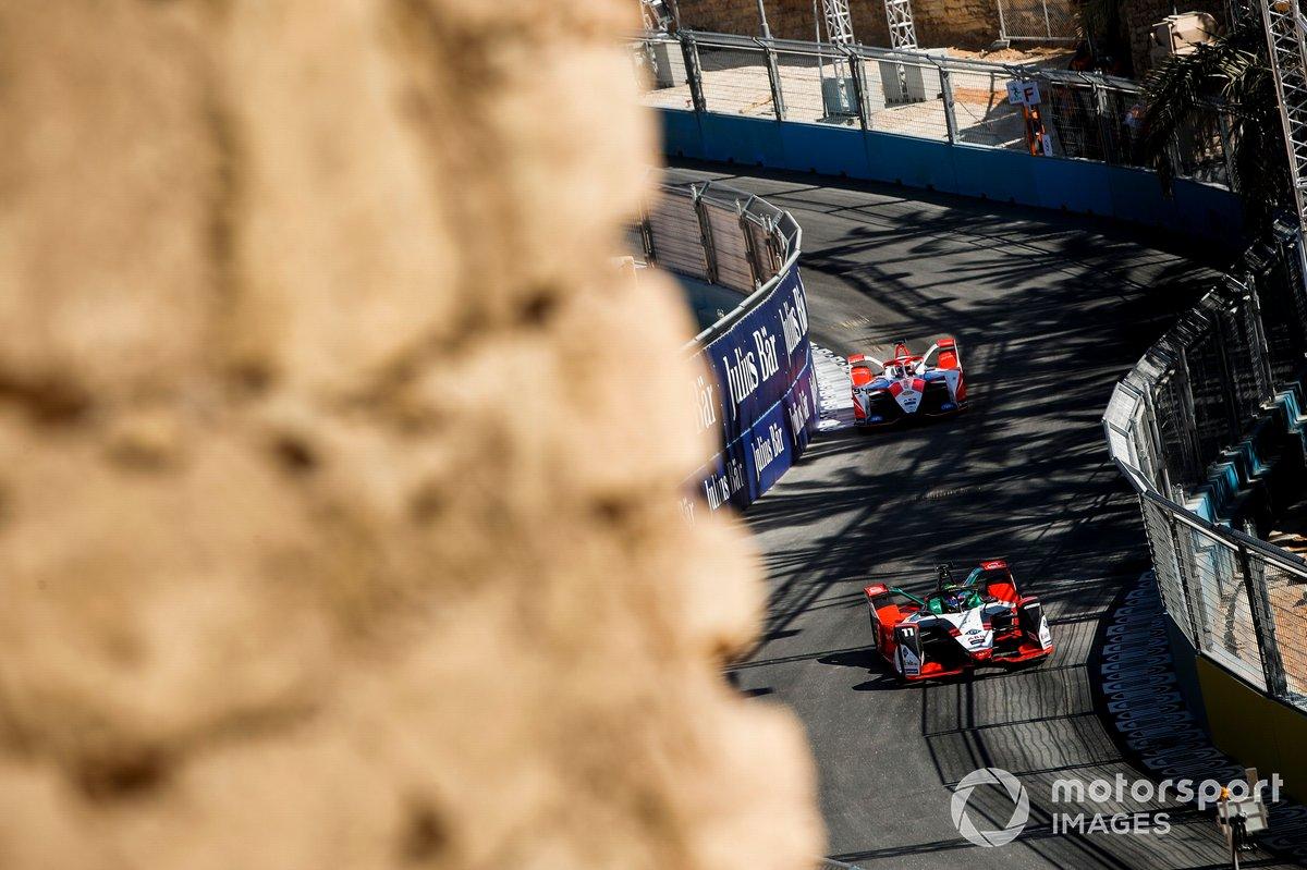 Lucas Di Grassi, Audi Sport ABT Schaeffler, Audi e-tron FE07, Alex Lynn, Mahindra Racing, M7Electro