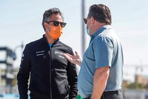 Jamie Reigle, CEO of Formula E, with Zak Brown, McLaren