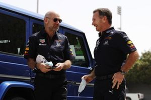 Adrian Newey, Chief Technical Officer, Red Bull Racing, and Christian Horner, Team Principal, Red Bull Racing