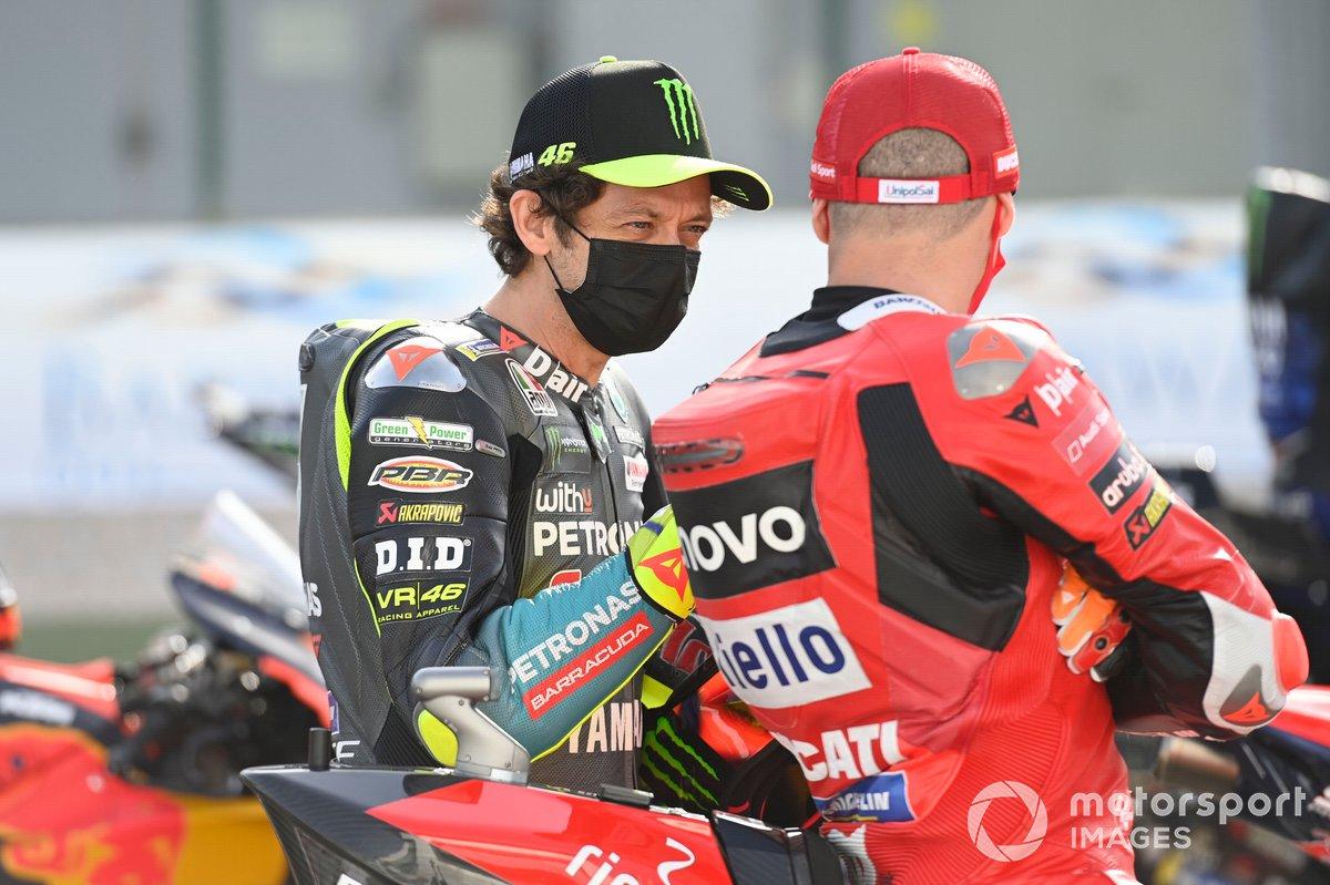 Valentino Rossi, Petronas Yamaha SRT, Jack Miller, Ducati Team