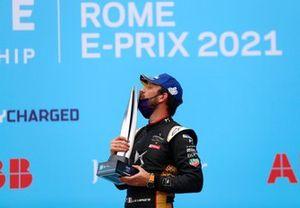 Le vainqueur Jean-Eric Vergne, DS Techeetah sur le podium
