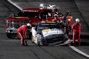 Zane Smith, GMS Racing, Chevrolet Silverado MRC Construction, crash