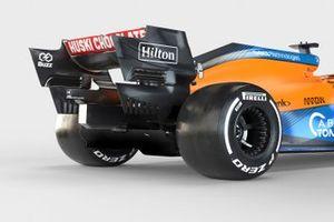 McLaren MCL35M detail achterzijde