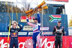 Top 3 der DTM-Saison 2021: Champion Maximilian Götz, 2. Liam Lawson, 3. Kelvin van der Linde