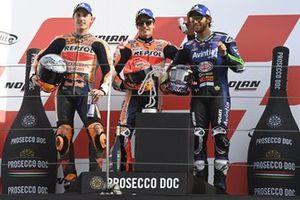 Marc Marquez, Repsol Honda Team, Pol Espargaro, Repsol Honda Team, Enea Bastianini, Esponsorama Racing sur le podium
