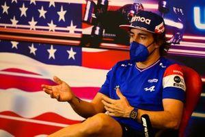 Fernando Alonso, Alpine F1, alla conferenza stampa
