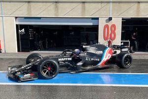 Daniil Kvyat, Alpine F1, Pirelli 18 inch tyre test