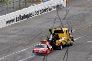 Crash: Justin Allgaier, Spire Motorsports, Chevrolet Camaro BRANDT