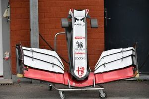 Alfa Romeo Racing C41 nose and front wing detail