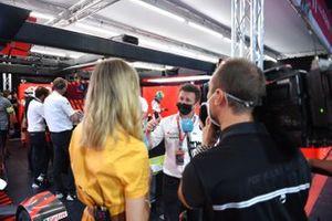 Allan McNish, Team Principal, Audi Sport Abt Schaeffler, is interviewed