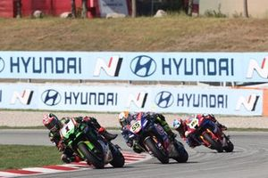 Jonathan Rea, Kawasaki Racing Team WorldSBK, Andrea Locatelli, PATA Yamaha WorldSBK Team, Alvaro Bautista, Team HRC