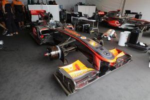 Classic McLaren Formula 1 cars, including a 2007 MP4-22