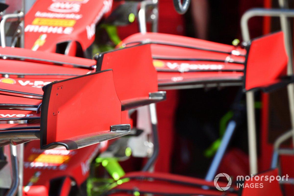 Alerón delantero y endplate del Ferrari SF21