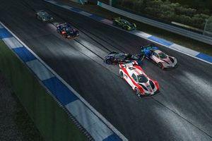 #7, Lasse Sørensen, TK9 E-SPEED (pro), #11, Luca Kita, Biela Racing Team EURONICS (esports), #98, Martin Štefanko, Williams Esports (esports)