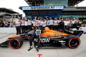 Pole sitter Patricio O'Ward, Arrow McLaren SP Chevrolet