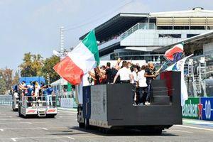 De parade van Italiaans Olympisch kampioenen