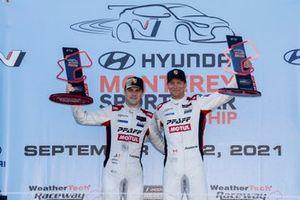 GTD Podium : #9 Pfaff Motorsports Porsche 911 GT3R, GTD: Zacharie Robichon, Laurens Vanthoor