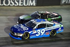 Ryan Sieg, RSS Racing, Ford Mustang CMR Construction and Roofing / A-Game and Riley Herbst, Stewart-Haas Racing, Ford Mustang Monster Energy