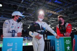 Nyck de Vries, Mercedes-Benz EQ, Maximilian Gunther, BMW i Andretti Motorsport, Oliver Rowland, Nissan e.Dams, guarda la fine delle qualifiche