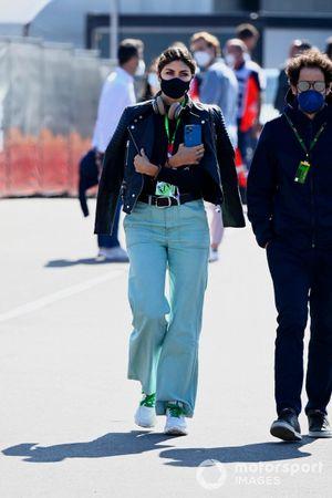 Linda Morselli, girlfriend of Fernando Alonso, Alpine