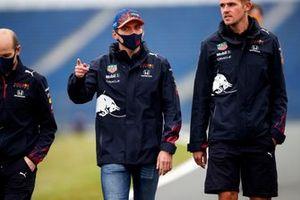 Max Verstappen, Red Bull Racing walks the track