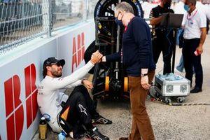 Jean-Eric Vergne, DS Techeetah, Jean Todt, FIA President, on the grid