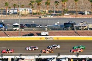 Justin Allgaier, JR Motorsports, Chevrolet Camaro BRANDT and Harrison Burton, Joe Gibbs Racing, Toyota Supra DEX Imaging