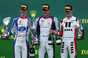 Podium: Race winner Jack Doohan, Trident, second place David Schumacher, Trident, third place Logan Sargeant, Charouz Racing System