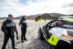 enson Button, del equipo JBXE Extreme-E, con la Odyssey 21 del equipo