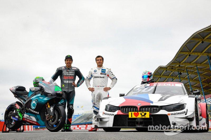 Franco Morbidelli, Petronas Yamaha SRT y Bruno Spengler, BMW M4 DTM