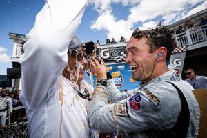 Winners #55 Mazda Team Joest Mazda DPi, DPi: Jonathan Bomarito, Harry Tincknell, Olivier Pla, podium, John Doonan of Mazda