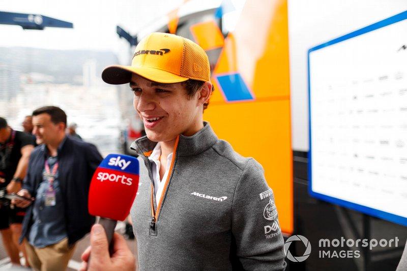 Lando Norris, McLaren parla ai media