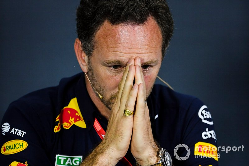 Christian Horner, directeur, Red Bull Racing, en conférence de presse