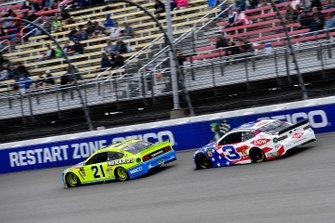Paul Menard, Wood Brothers Racing, Ford Mustang Menards / NIBCO, Austin Dillon, Richard Childress Racing, Chevrolet Camaro Dow Salutes Veterans