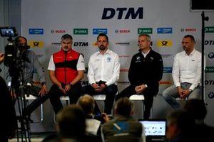 Persconferentie, Dieter Gass, baas DTM Audi Sport, Dr. Florian Kamelger, teambaas R-Motorsport, Jens Marquardt, BMW Motorsport Director, Achim Kostron, ITR