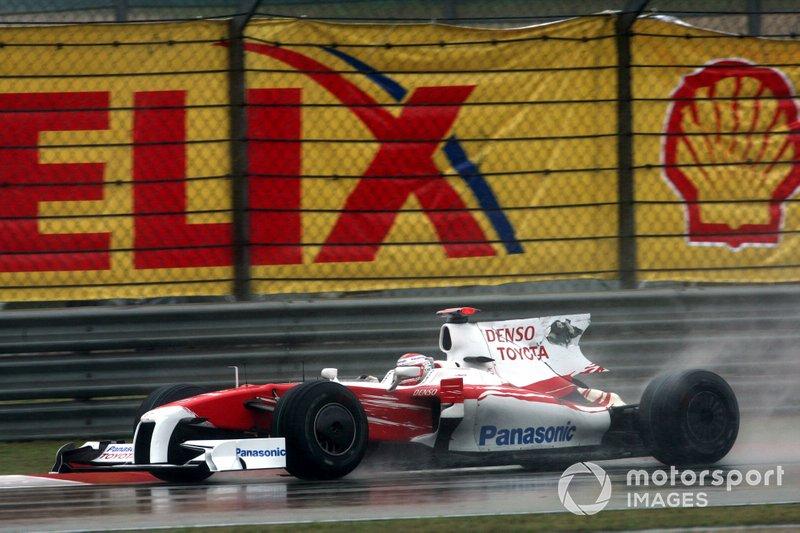 Jarno Trulli, Toyota TF109 sans aileron arrière