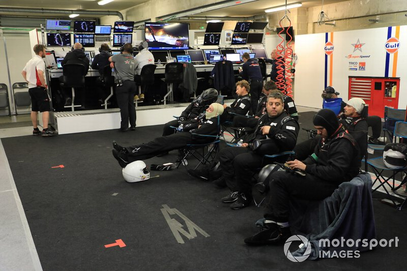 Gulf Racing garage atmosphere