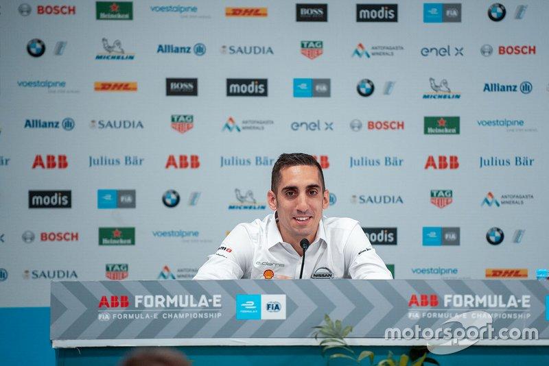 Sébastien Buemi, Nissan e.Dams, alla conferenza stampa
