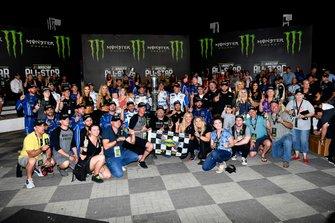 Kyle Larson, Chip Ganassi Racing, Chevrolet Camaro Advent Health wins. Monster guests