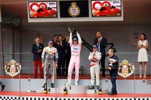 Podium: Race winner Michael Ammermüller, BWT Lechner Racing, second place Mikkel O. Pedersen, Dinamic Motorsport, third place Larry ten Voorde, MRS GT-Racing