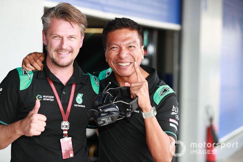 Johan Stigefelt, Direttore del team Petronas Yamaha SRT, Razlan Razali, Sepang CEO