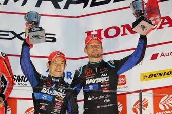 Podium: third place #1 Team Kunimitsu Honda NSX-GT: Jenson Button, Naoki Yamamoto