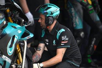 Petronas Yamaha SRT team members at work
