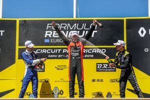 Podium: race 2 winner Lorenzo Colombo, MP motorsport, second place Alexander Smolyar, R-ACE GP, third place Victor Martins, MP motorsport
