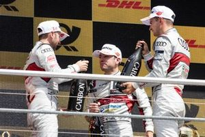 Podium, René Rast, Audi Sport Team Rosberg, Robin Frijns, Audi Sport Team Abt Sportsline, Nico Müller, Audi Sport Team Abt Sportsline