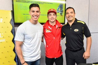 Charles Leclerc, Ferrari at Shell House with guests