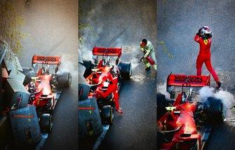 Choque de Charles Leclerc, Ferrari SF90