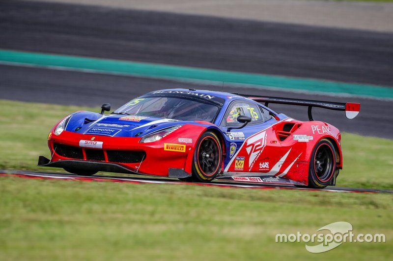#75 T2 Motorsports Ferrari 488 GT3: Rio Haryanto, Gregory Teo