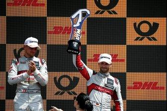 Podium: derde René Rast, Audi Sport Team Rosberg